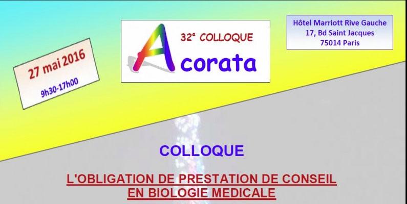 COLLOQUE ACORATA